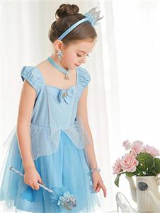夢幻派對藍色連衣裙