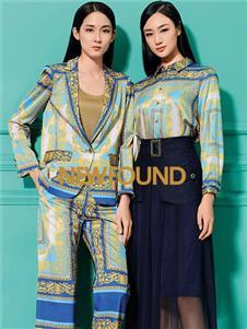 紐方2020春款藍色半身裙