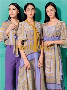 紐方2020春款紫色連衣裙