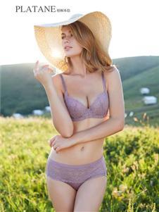 梧桐本色紫色文胸套装