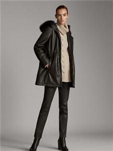 Massimo黑色皮衣