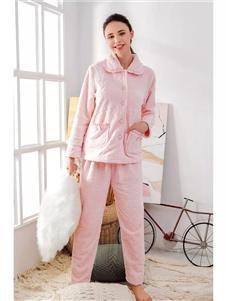 貓人秘密粉色居家服