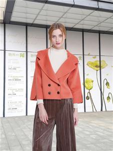 邦莎贝尔橘色外套
