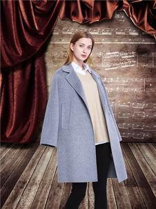 邦莎贝尔灰色大衣