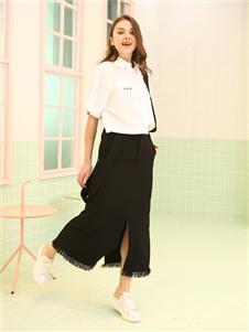 邦莎贝尔黑色半身裙