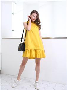 邦莎贝尔黄色连衣裙