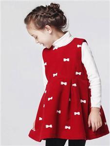 弗萝町红色连衣裙