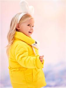 可拉比特黄色羽绒衣