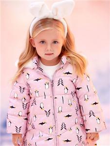 可拉比粉色羽绒衣