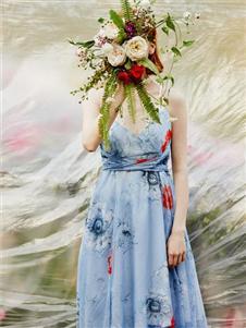 MYMO蓝色连衣裙