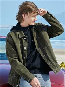 班尼路绿色外套