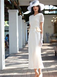 香莎女装2020春夏款蕾丝连衣裙