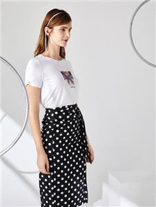 城市衣柜女装城市衣柜2020春夏装复古半身裙
