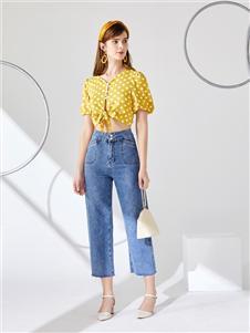 城市衣柜女装城市衣柜2020春夏装牛仔裤