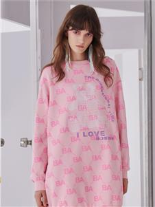 我爱巧克力2020春款粉色卫衣