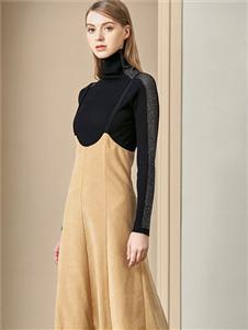 贝洛安女装贝洛安2020春夏装背带裙