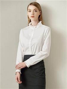 贝洛安女装贝洛安2020春夏装白色衬衫