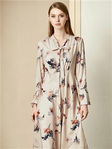 贝洛安女装贝洛安2020春夏装优雅连衣裙