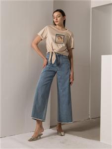阿莱贝琳2020春装阔腿裤