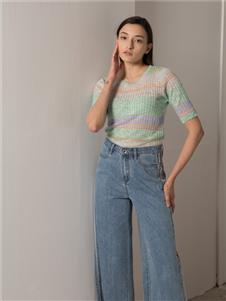 阿莱贝琳2020春装牛仔裤