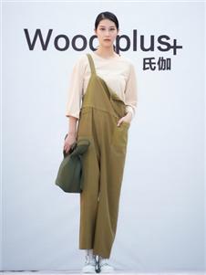 氏伽2020春夏装绿色背带裤
