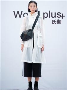 氏伽2020春夏装白色外套