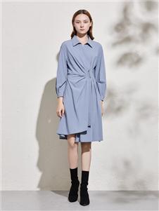 你即永恒2020春夏装蓝色连衣裙