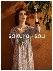 sakura·sou-2020S&S印花连衣裙