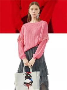 韩序女装韩序2020春款粉色针织是