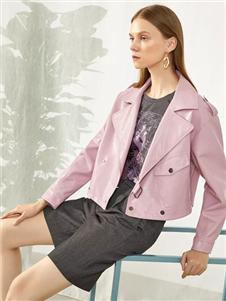 韩序女装韩序2020春款粉色外套