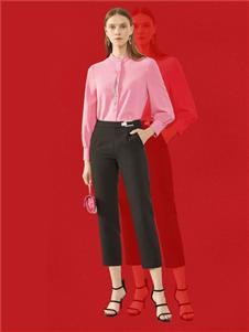 韩序女装韩序2020春款粉色衬衫