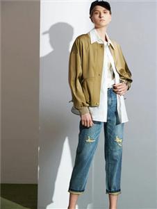 沙与沫2020春款绿色外套
