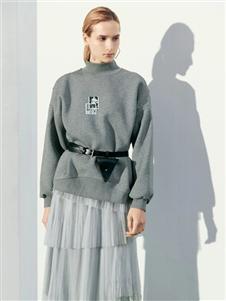 沙与沫2020春款灰色卫衣