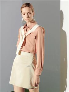 沙与沫2020春款粉色衬衫