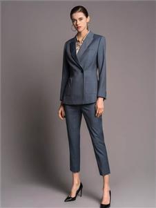 TieForHer2020春款灰色西装两件套