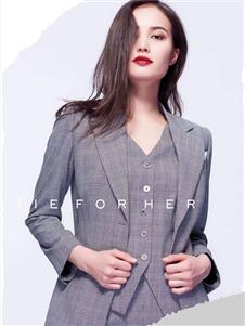 TieForHer2020春款灰色西装