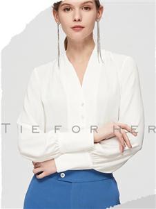 TieForHer2020春款白色衬衫