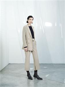 伊迪索2020春款米色西装裤