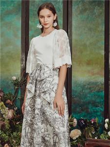 保时霓女装保时霓2020春夏款印花半身裙