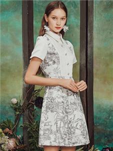 保时霓女装保时霓2020春夏款印花连衣裙