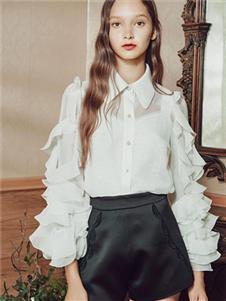 保时霓女装保时霓2020春夏款白色衬衫