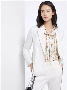 法路易娜女装法路易娜2020春款白色西装