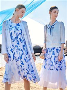 谷度女装春新款连衣裙两件套