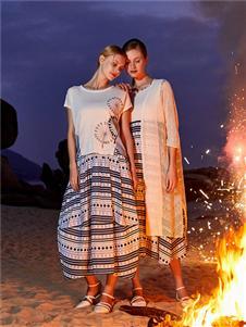 谷度2020新款棉麻連衣裙