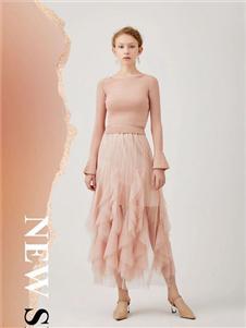 红凯贝尔2020春款粉色半身裙
