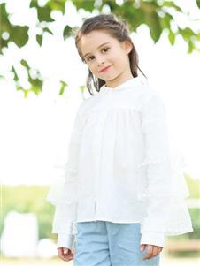 爱儿健2020春夏装白色衬衫