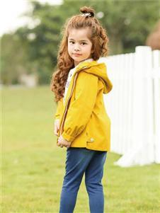 爱儿健2020春夏装黄色外套