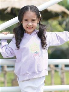 爱儿健2020春夏装紫色卫衣