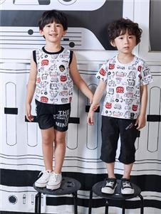 嗒嘀嗒童装男童夏新款T印花T恤