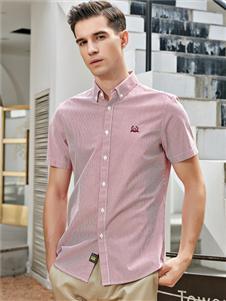 法拉狄奥2020粉色短袖衬衫